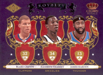 2009-10 Crown Royale Rookie Royalty #7 Blake Griffin/Hasheem Thabeet/James Harden front image