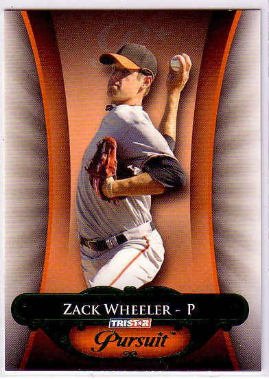 2010 TRISTAR Pursuit Green #3 Zach Wheeler