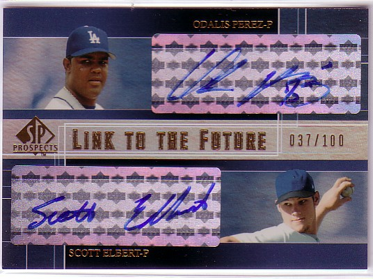 2004 SP Prospects Link to the Future Dual Autographs #PE Odalis Perez/Scott Elbert