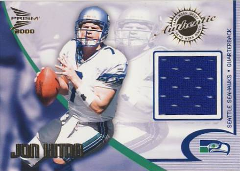 2000 Pacific Prism Prospects Game Worn Jerseys #10 Jon Kitna
