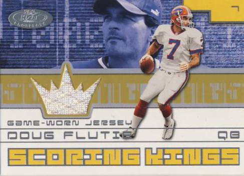 2001 Hot Prospects Scoring King Jerseys #23 Doug Flutie