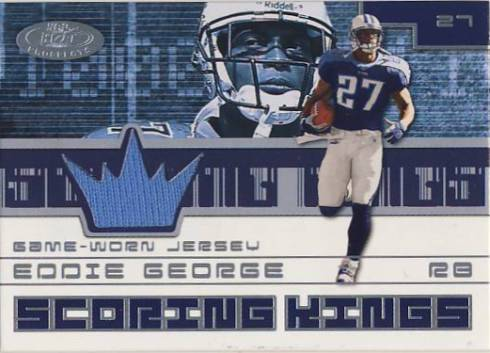 2001 Hot Prospects Scoring King Jerseys #25 Eddie George