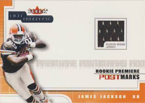 2001 Hot Prospects Rookie Premiere Postmarks Jerseys #12 James Jackson