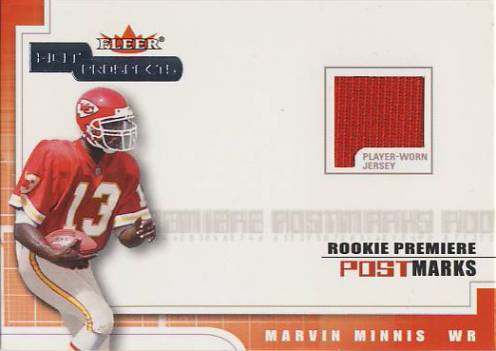2001 Hot Prospects Rookie Premiere Postmarks Jerseys #17 Snoop Minnis