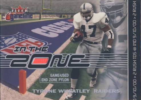 2001 Fleer Game Time In the Zone #TW Tyrone Wheatley
