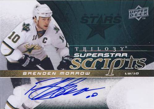 2008-09 Upper Deck Trilogy Superstar Scripts #SSBM Brenden Morrow