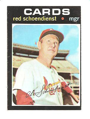 1971 Topps #239 Red Schoendienst MG