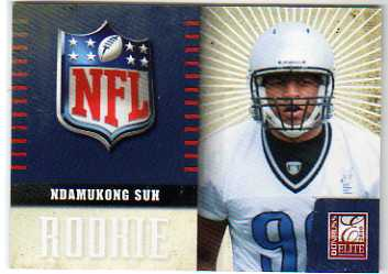 2010 Donruss Elite Rookie NFL Shield #28 Ndamukong Suh