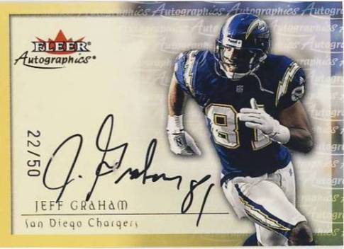 2000 Fleer Tradition Autographics Gold #61 Jeff Graham