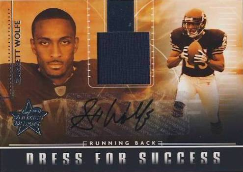 2007 Leaf Rookies and Stars Dress for Success Jersey Autographs #6 Garrett Wolfe