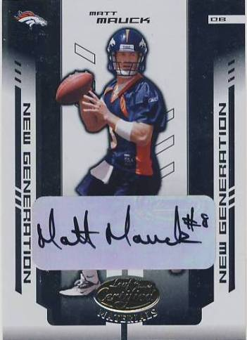 2004 Leaf Certified Materials #187 Matt Mauck AU RC