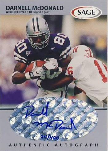1999 SAGE Autographs Silver #A34 Darnell McDonald/400