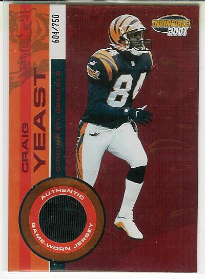 2001 Pacific Invincible Red #54 Craig Yeast JSY