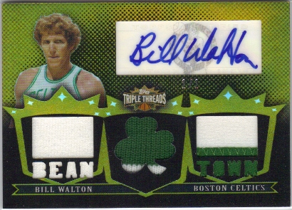 2007-08 Topps Triple Threads Relics Autographs Gold #85 Bill Walton Bean Town