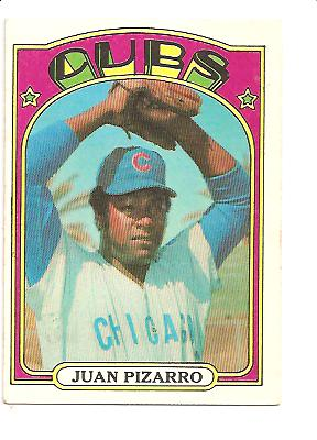 1972 Topps #18B Juan Pizarro Green under C and S