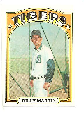 1972 Topps #33 Billy Martin MG