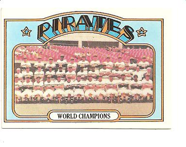 1972 Topps #1 Pittsburgh Pirates TC