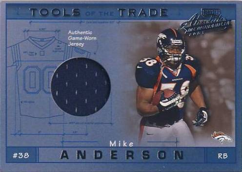 2001 Absolute Memorabilia Tools of the Trade #TT12 Mike Anderson JSY/275*