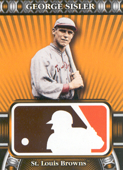 2010 Topps Logoman HTA #6 George Sisler