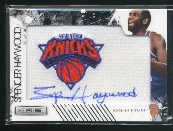 2009-10 Rookies and Stars Retired NBA Team Patches Signatures #19 Spencer Haywood/394