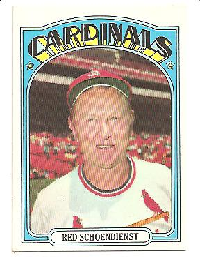 1972 Topps #67 Red Schoendienst MG