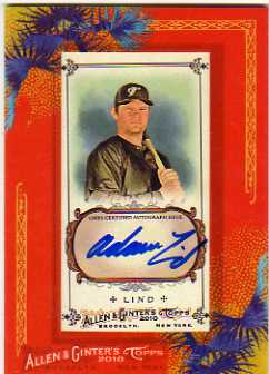 2010 Topps Allen and Ginter Autographs #AL Adam Lind