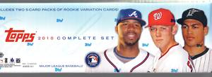 2010 Topps Baseball Factory Sealed HTA Hobby Box Set With 661 Cards Including Derek Jeter Tim Lincecum Albert Pujols Jason Heyward Stephen Strasburg + 10 Exclusive Rookie Variation Cards - In Stock   front image