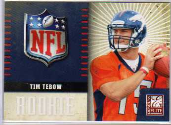 2010 Donruss Elite Rookie NFL Shield #34 Tim Tebow