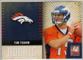 2010 Donruss Elite Rookie NFL Team Logo #34 Tim Tebow