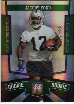 2010 Donruss Elite Turn of the Century Autographs #117 Jacoby Ford/499