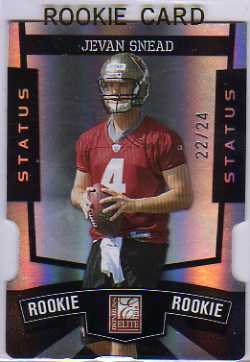 2010 Donruss Elite Status Black #147 Jevan Snead
