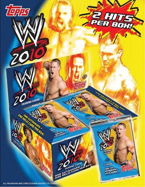 2 PACK LOT : 2010 Topps WWE Wrestling Factory Sealed Hobby Pack (1 Autograph & 1 Memorabilia Card in EVERY Box) (1 Parallel & 1 Insert Per Pack) 