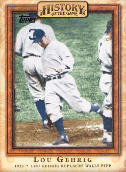 2010 Topps History of the Game #HOG9 Lou Gehrig Replaces Wally Pipp