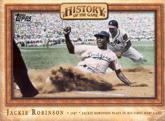 2010 Topps History of the Game #HOG15 Jackie Robinson Plays in first MLB game
