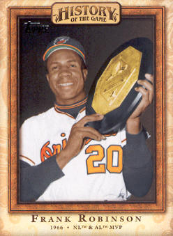 2010 Topps History of the Game #HOG20 Frank Robinson - 1966 AL and NL MVP