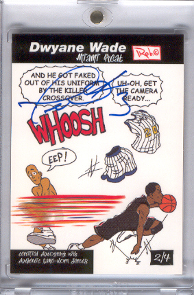 2005-06 Topps Style Dwyane Wade Comics Autographs Relics #AR2 Dwyane Wade