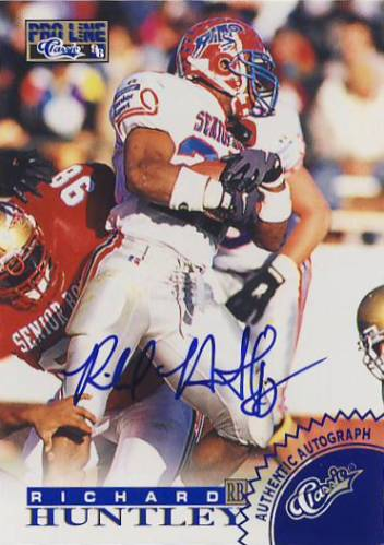 1996 Pro Line Autographs Blue #29 Richard Huntley