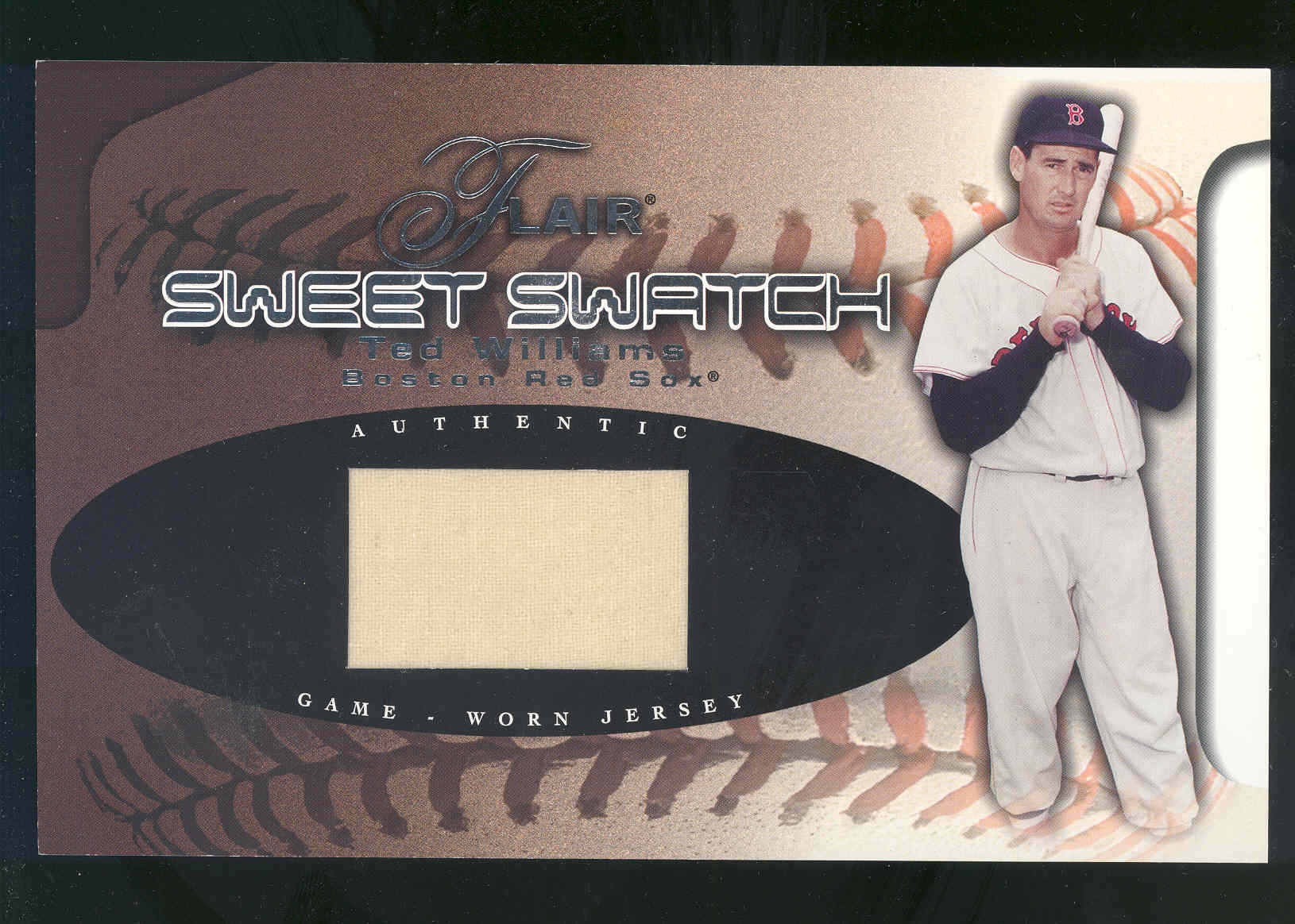 2002 Flair Sweet Swatch #21 Ted Williams/250