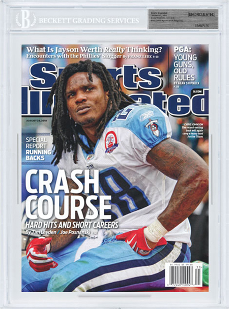 SPORTS ILLUSTRATED BGS SI Uncirculated CHRIS JOHNSON Tennessee Titans
