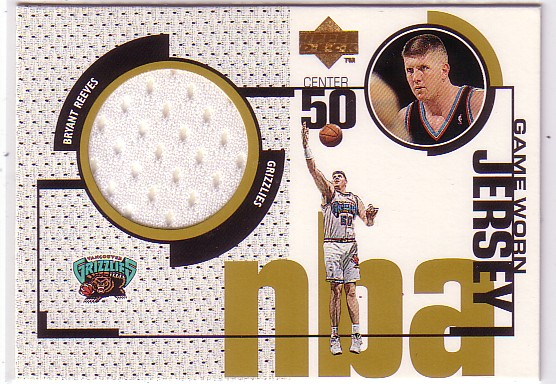 1998-99 Upper Deck Game Jerseys #GJ18 Bryant Reeves