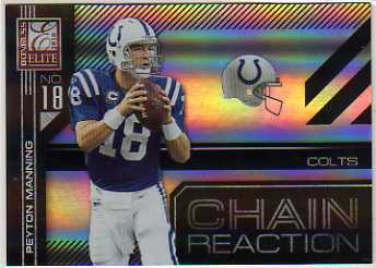 2010 Donruss Elite Chain Reaction Black #17 Peyton Manning