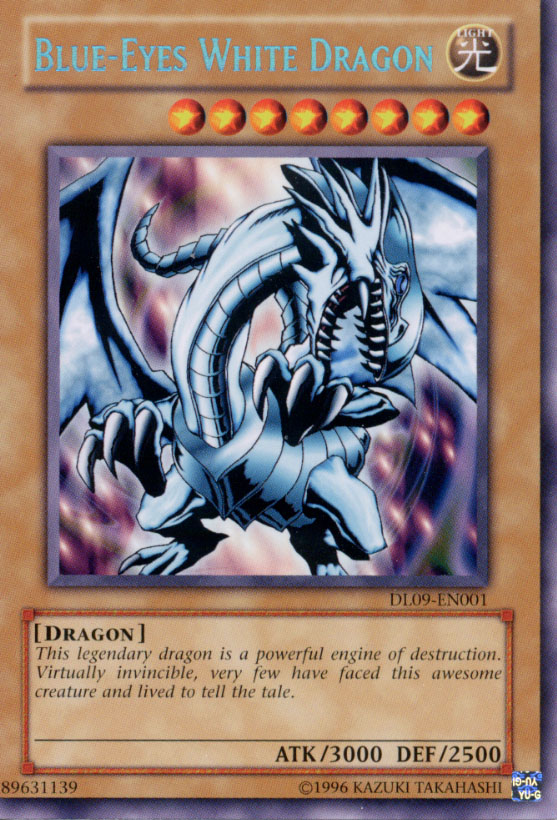 Yu-Gi-Oh Blue-Eyes White Dragon DL09-EN001 Blue Lettering Variation