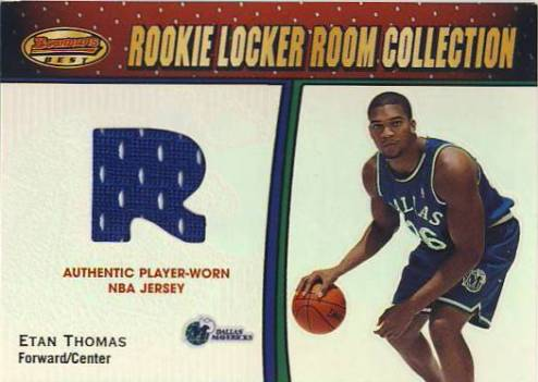 2000-01 Bowman's Best Rookie Locker Room Collection #LRCR12 Etan Thomas JSY