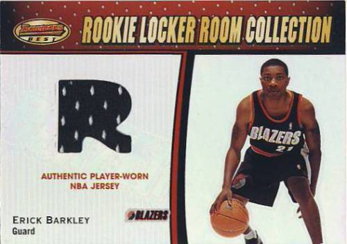 2000-01 Bowman's Best Rookie Locker Room Collection #LRCR24 Erick Barkley JSY
