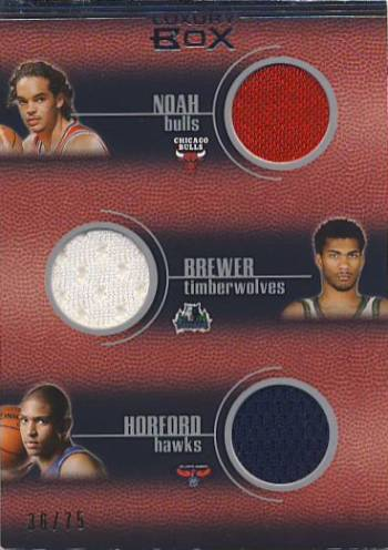2007-08 Topps Luxury Box Five Piece Relics #R2 Joakim Noah/Corey Brewer/Al Horford/Julian Wright/Jeff Green