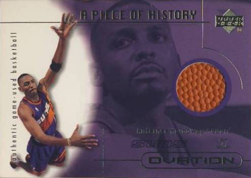 2000-01 Upper Deck Ovation A Piece of History #AHB Anfernee Hardaway