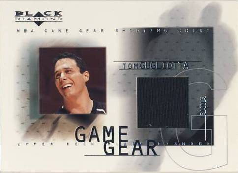 2000-01 Black Diamond Game Gear #TG Tom Gugliotta