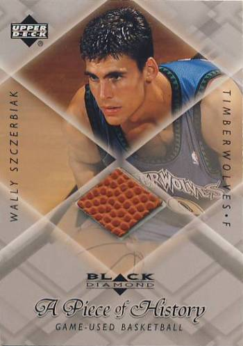 1999-00 Black Diamond A Piece of History #WS Wally Szczerbiak H/R