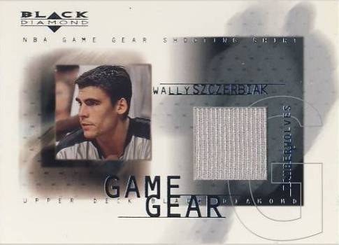2000-01 Black Diamond Game Gear #WS Wally Szczerbiak