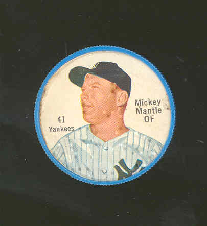 1962 Shirriff Plastic Coins #41 Mickey Mantle